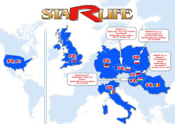 A map of STARLIFE branches in the world
