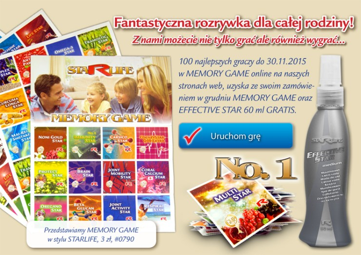 Starlife Memory Game - On-line gra