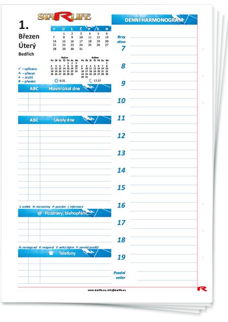 Увеличи изображението Kalendář Březen, A5