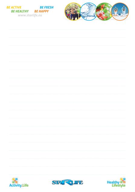 Увеличи изображението Notepad STARLIFE, A5, 20 sheets