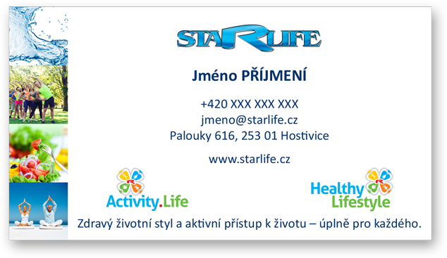 Enlarge pictureBusiness cards STARLIFE, 1-sided laminated 100 pcs