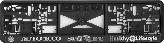 Enlarge picture Licence plate holder AUTO 1.000, silver