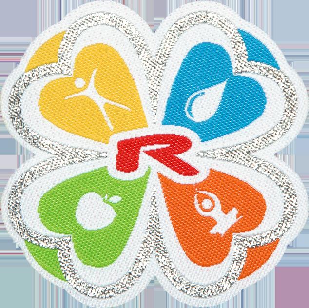 Enlarge pictureNažehlovací logo ČTYŘLÍSTEK 35 mm