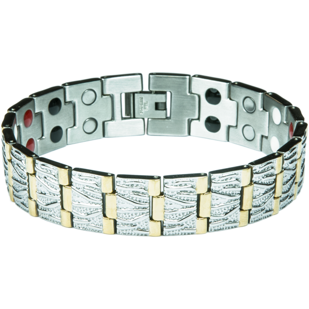 Увеличи изображението Bracelet ALEX silver + gold