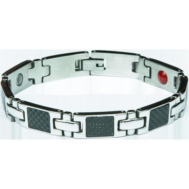 Увеличи изображението Bracelet BERNIE silver + black