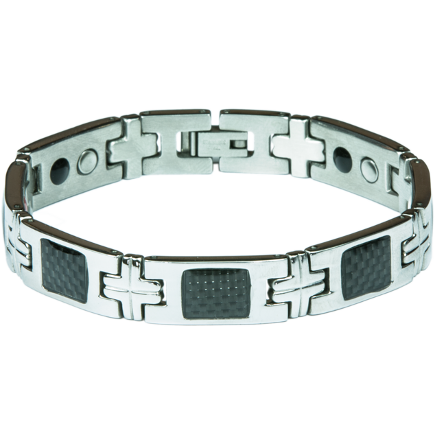 Enlarge picture Bracelet BERNIE black + silver