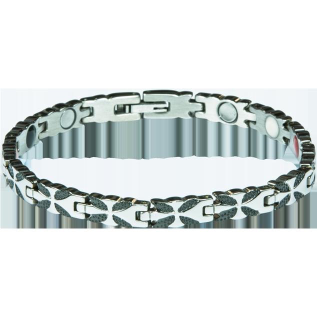 Ampliar imagenBracelet LIZZY black + silver