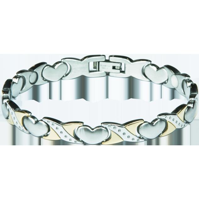 Увеличи изображението Bracelet ROSE silver + gold