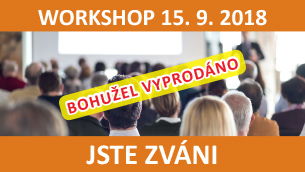 WORKSHOP 15. 9. 2018